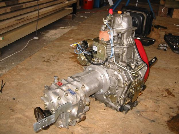 Air cooled diesel with transmission